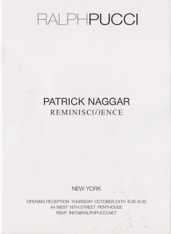 Reminisc(i)ence - Patrick Naggar