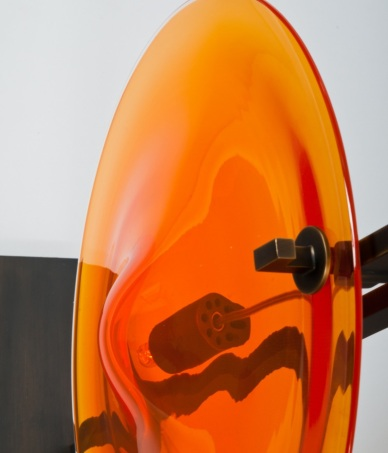 Lampe de table - ORBE - Bronze + Orange - Détail