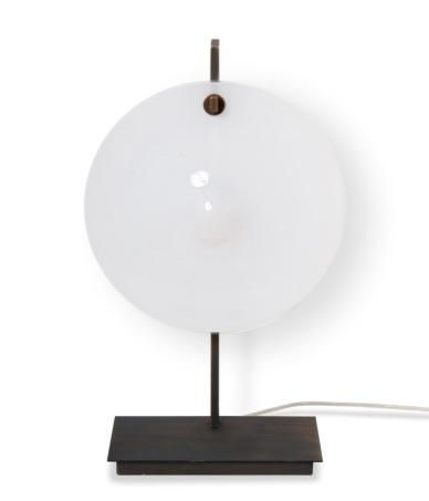Lampe de table - ORBE - Bronze + Soie