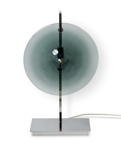 Lampe de table - ORBE - Chrome + Gris