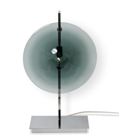 Lampe de table - ORBE - Chrome + Gris
