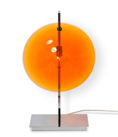 Lampe de table - ORBE - Chrome + Orange
