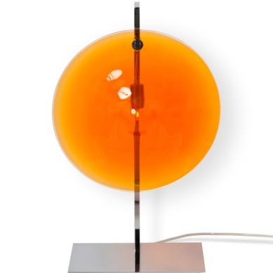 Lampe de table - ORBE - Chrome + Orange