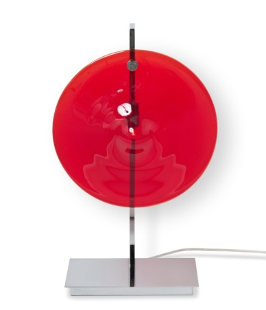 Lampe de table - ORBE - Chrome + Rouge