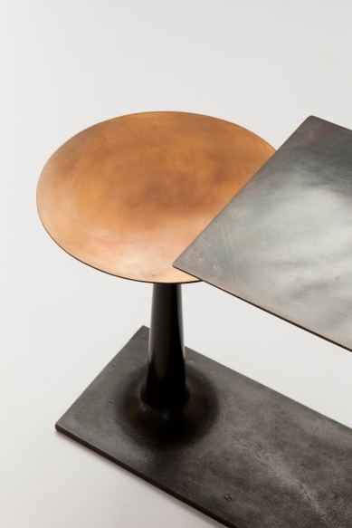 Stem Bronze Double End Table - Patrick Naggar