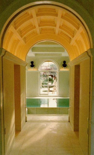 View to the pool