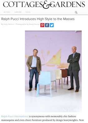 Ralph Pucci Introduces High Style to the Masses - New York Cottages & Gardens - December 2017 - New
