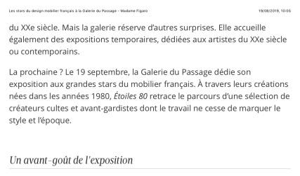 Les stars du design mobilier français à la Galerie du Passage - Madame Figaro - page 2